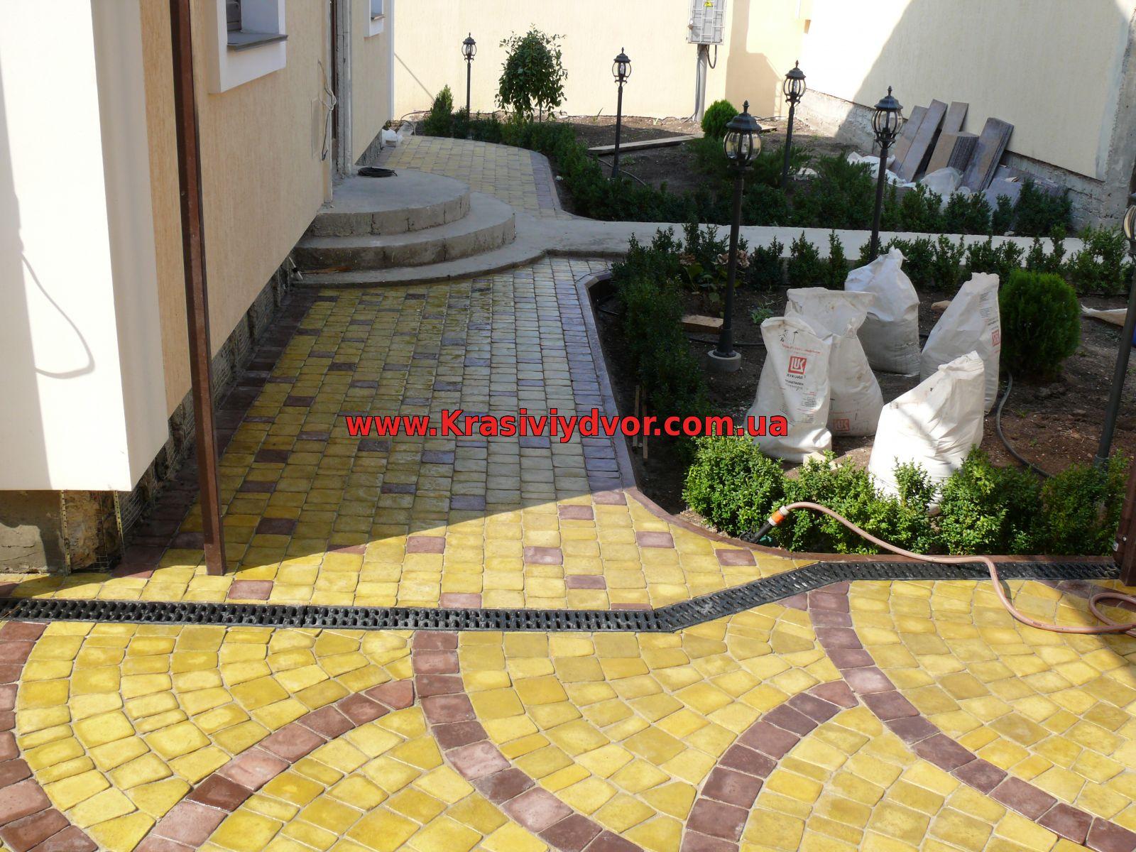 Дизайн тротуарной плитки домагалерея w=318